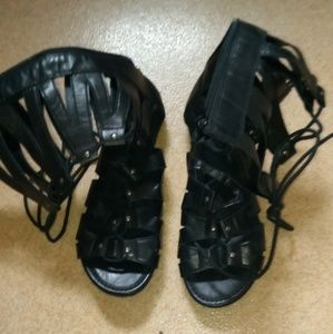 Black Women's Size 8 Hercules Sandals